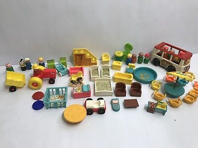 Vintage Fisher-Price Little People Play Family House ACCESSORY LOT 952