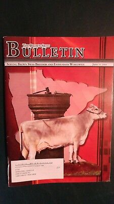 2004 National Brown Swiss Dairy Cattle Sale Catalog + Brown Swiss Bulletin Issue