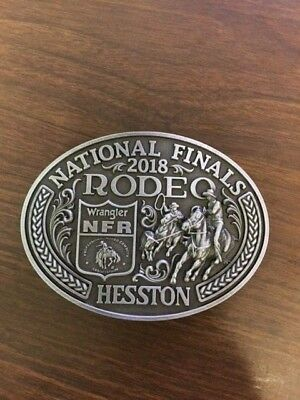 2018 Hesston National Finals Rodeo Large Belt Buckle, NFR, Montana Silversmiths
