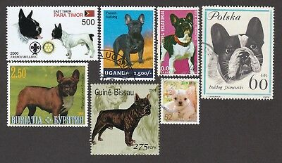 FRENCH BULLDOG ** Int'l Dog Postage Stamp Collection **Great Gift Idea**