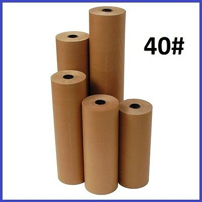 40# Wt Kraft Brown 900' Roll Shipping Wrapping Void Fill Paper - 10 Sizes Avail.