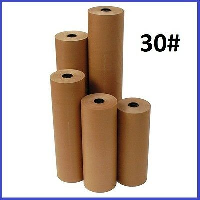 30# Wt Kraft Brown 1200' Roll Shipping Wrapping Void Fill Paper - 12 Sizes Avail