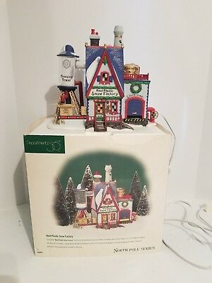 Department 56 Real Plastic Snow Factory  North Pole Series good condition w/box