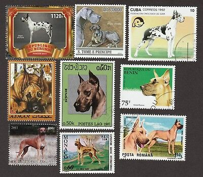 GREAT DANE ** Int'l Dog Postage Stamp Collection **Great Gift Idea**