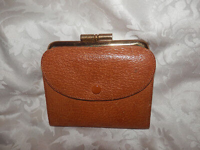 Vintage Brown Leather Purse!made In England!vgc.