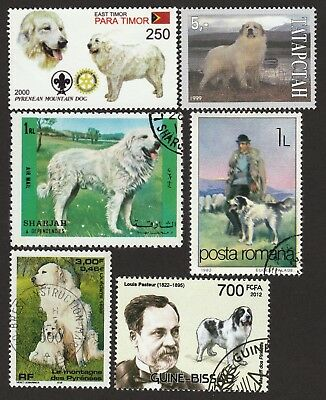 GREAT PYRENEES ** Int'l Dog Postage Stamp Collection **Great Gift Idea**