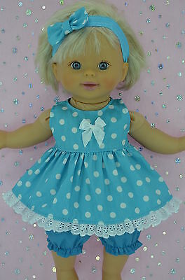 "Play n Wear Doll Clothes For 13"" Little Mommy/Baby Born DRESS~BLOOMERS~HEADBAND"