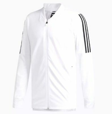 NEW Adidas Essentials ID Bomber Tricot Track Jacket White Black DH9063 ALL SIZES