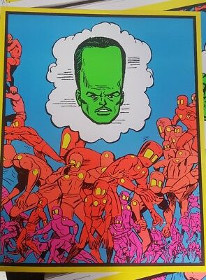 Marvel Third eye tribute blacklight poster the Leader Humanoids Hulk Day Glow