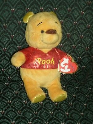 """Ty Beanie Babies ~ WINNIE THE POOH ~ the 5"""" SPARKLE ~ MWMT~ RARE ~ Hard to find"""