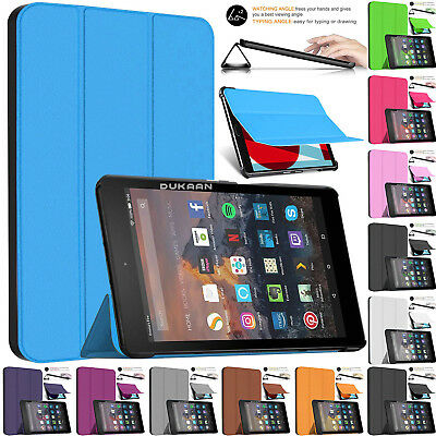 """Smart Magnetic Leather Shell Stand Case For Amazon Kindle Fire HD 8"""" Tablet 2018"""