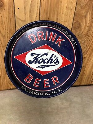 1940's Fred  Koch Brewing Company Tin Beer Tray