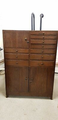 Vintage Glass Drawers and Wood Dentist Cabinet - London E10