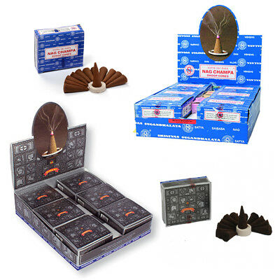 💖 Genuine Original Satya Bulk Buy Nag Champa Super Hit Dhoop Box Incense Cones