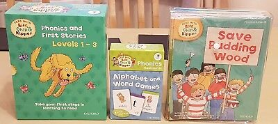 Biff, Chip and Kipper Books Phonics And First Stories Levels 1 -6 And Flashcards