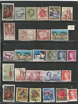 Selection  Of   all good   Australian stamps   lot all fine used 21 in total