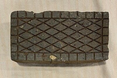 Antique CrossHatch Diamond Brick Paver Virginia #1 of 3 Sidewalk Geometric