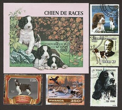 ENGLISH SPRINGER SPANIEL**Int'l Dog Postage Stamp Collection**Great Gift Idea**