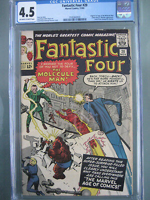 Fantastic Four #20 1st Molecule Man CGC 4.5 **Stan Lee** Marvel Comics 1963