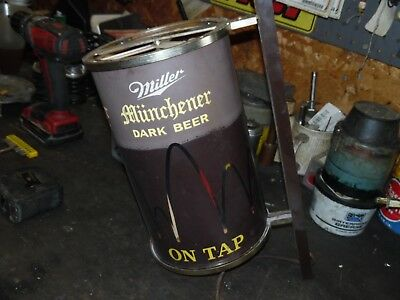 Miller lighted beer sign bouncing ball vintage rotating man cave 1959