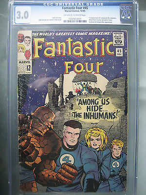 Fantastic Four #45 1st Inhumans CGC 3.0 **Stan Lee Story** Marvel Comics 1965