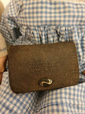Very Old Leather Coin Purse Barry Island
