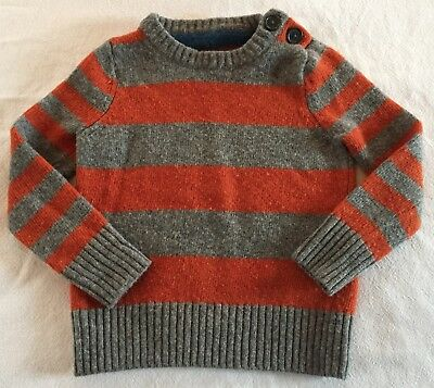 BODEN Mini Boden Striped Lambswool Sweater Boy's Toddler Size 2-3 years