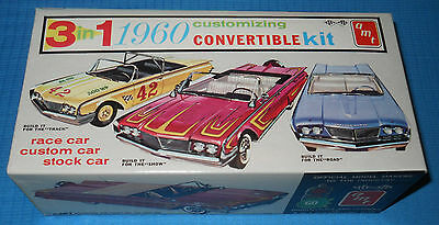 AMT 1960 Mercury Convertible 3 in1 Model Kit-Rare #33360 Case Fresh-NEVER Opened