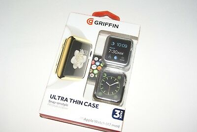 Apple Watch Protective Cases 42 MM Snap On Griffin 3 Pk Ultra Thin Free Shipping