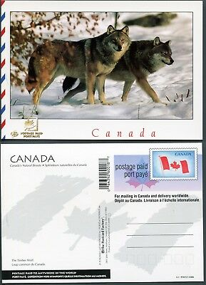 UX145 PCF Postcard C086, Indicia Die 5, 200018, Timber Wolf