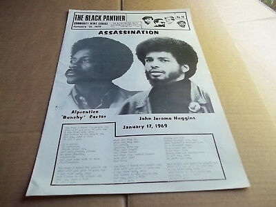Black Panther party community news service Bunchy Carter Jan 19, 1970   VG+