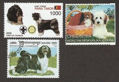 TIBETAN TERRIER *Int'l Dog Stamp Collection **Great Gift Idea*