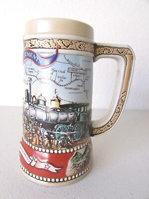 Miller High Life Beer Stein Mug 1st Transcontinental Railway 1869 3rd in Series