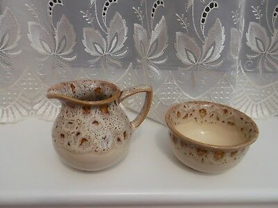 Fosters Blonde/ Honeycomb Sugar Bowl And Milk Jug