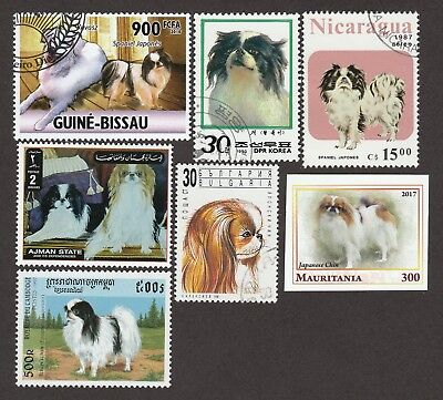 JAPANESE CHIN ** Int'l Dog Postage Stamp Collection ** Unique Gift Idea*
