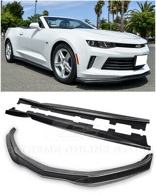 EOS T6 Style Front Bumper Lip Splitter W/ Side Skirts Panel For 16-18 Camaro RS