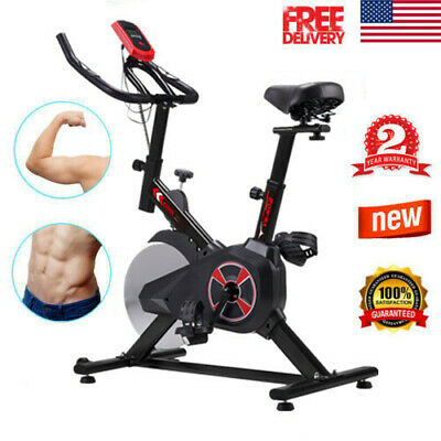 Pro Indoor Exercise Cycle Spinning Bike Fitness Cardio Digital Monitor +Flywheel