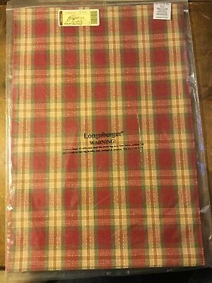 LONGABERGER Set of 2 Fabric Placemats ORCHARD PARK PLAID Brand New