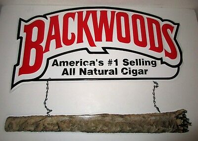 Backwoods America's #1 Selling All Natural Cigar Metal Tin Sign Advertisement