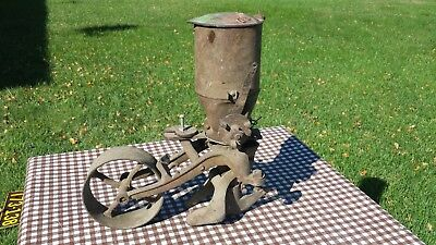 Antique Cast Iron Seeder Planter Cultivator w/ Green Paint John Deere ? Yard Art