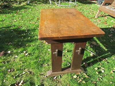 Solid Oak Arts and Crafts Table