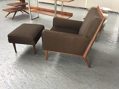 Admirable Mid Century Lounge Chair Ottoman 1 200 00 Picclick Gmtry Best Dining Table And Chair Ideas Images Gmtryco
