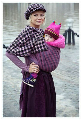 Ellevill Mie Norwegian Baby Wrap Sling  50% Wool 50% Cotton Blend Size 5 Purple