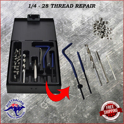 Helicoil Kit 1/4 - 28 Thread Repair Set, Includes 25  Helicoil Type Inserts