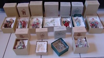 Hallmark Limited Edition Keepsake Ornaments Hand Painted Lot of 11 with Boxes