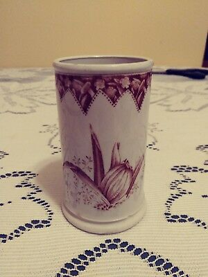 Aesthetic Movement Transfer Ware Ironstone Cup F.W.&Co Orchid Pattern 19th C