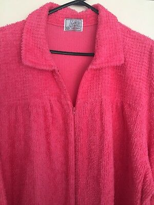 Vintage retro pink chenille dressing gown