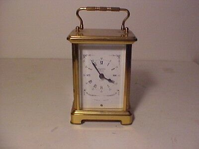 Vintage Bayard Duverdrey Bloquel Paris Carriage Clock Minor Damage Working