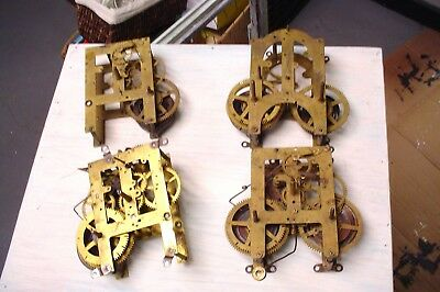 Lot of 4 Antique Clock Movements Sessions , Ansonia Welch