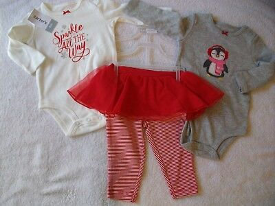 2f5643a389be NEW CARTER S BABY Girl Christmas Sparkle All the Way 3-Piece Outfit ...